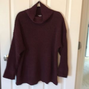 Aerie M chunky knit oversized cowl neck sweater